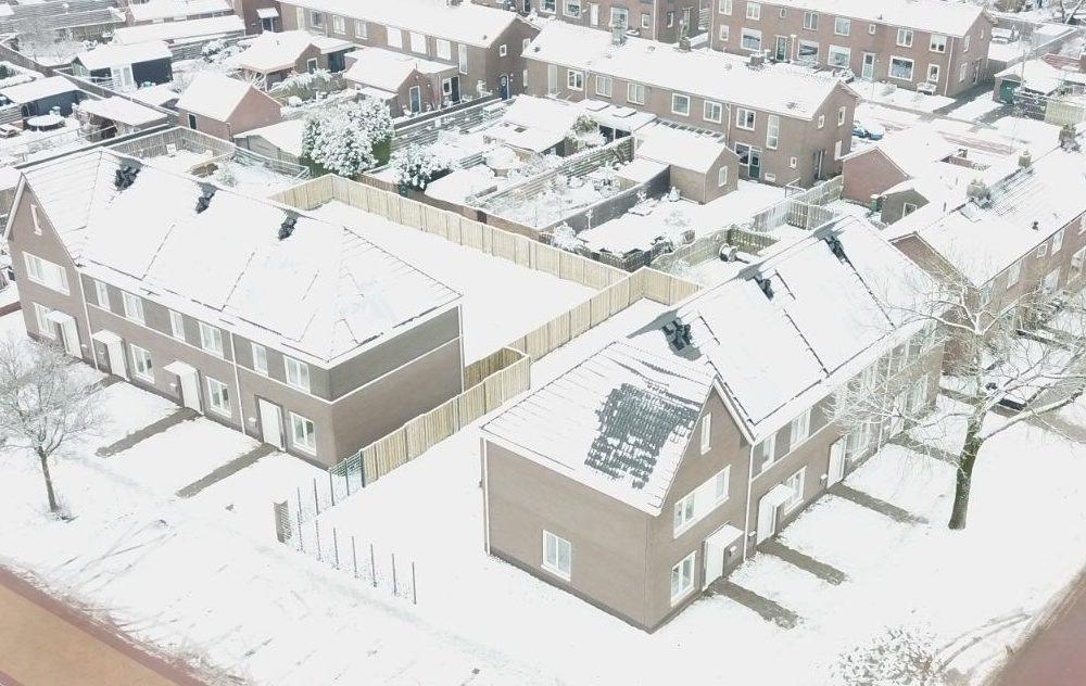 Winter impressie 8 woningen Hasselt