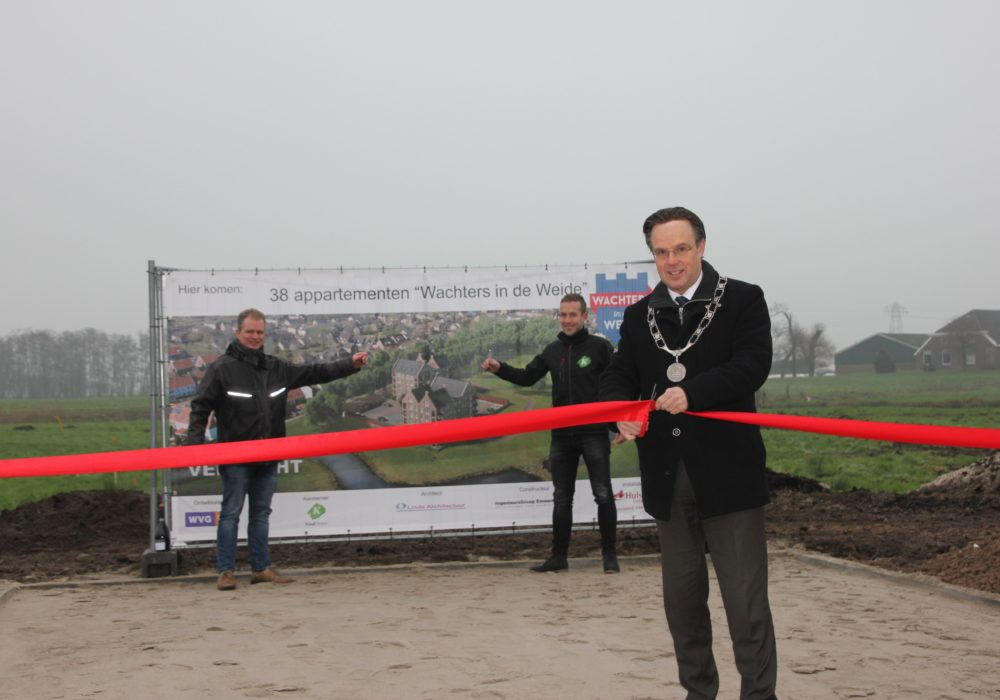 feestelijke start bouw 38 appartementen 'Wachters in de Weide' te Hasselt